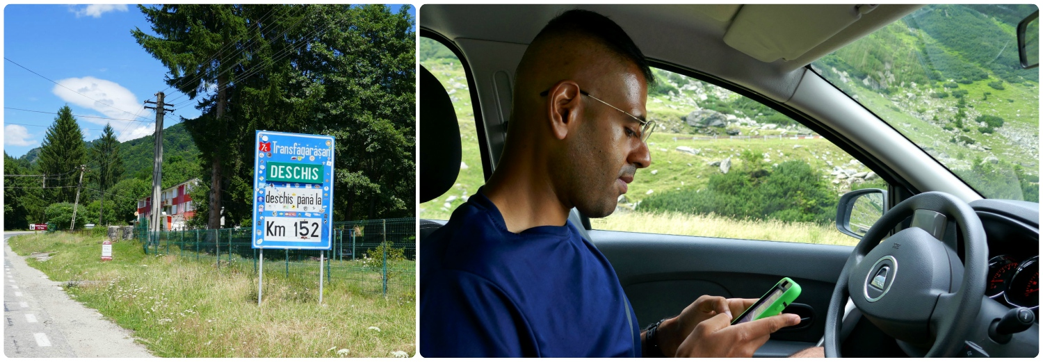 No matter what way you choose to see and travel the Transfagarasan Highway, you can still get work done remotely! Seriously, we're pulled over on the side of the road and Sergio's doing remote IT work for a client.