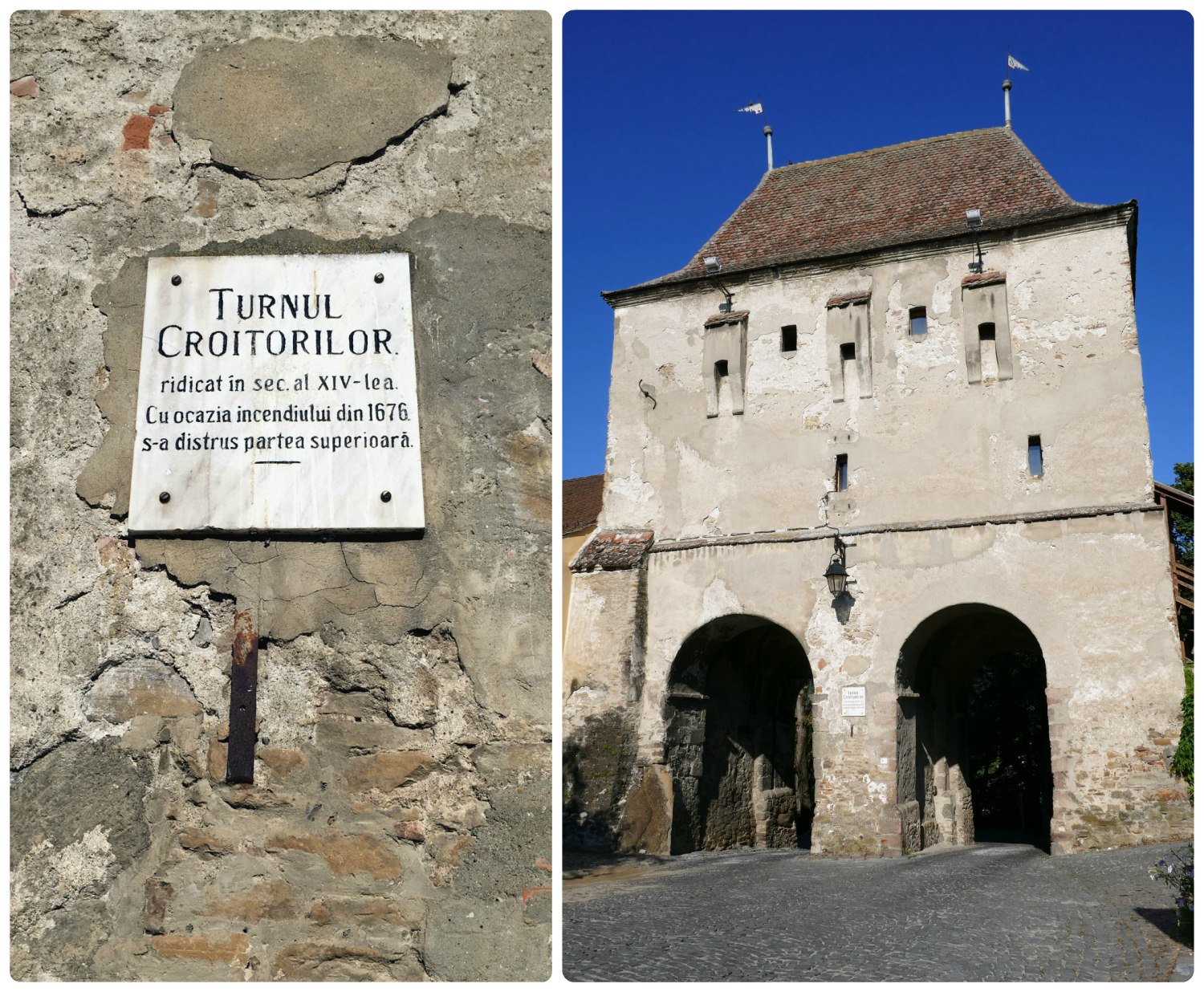 The Tailors' Tower was unique in that it had two passageways for entering and exiting the Sighisoara Citadel.