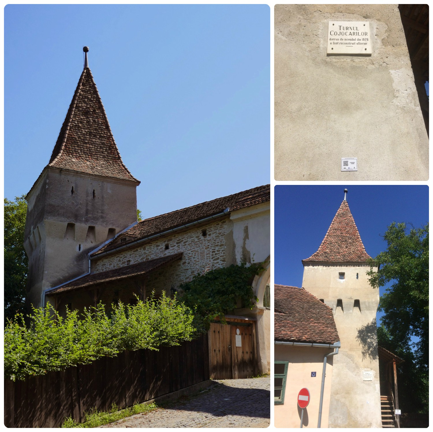The Furriers' Tower stands adjacent to a gate into the Sighisoara Citadel.