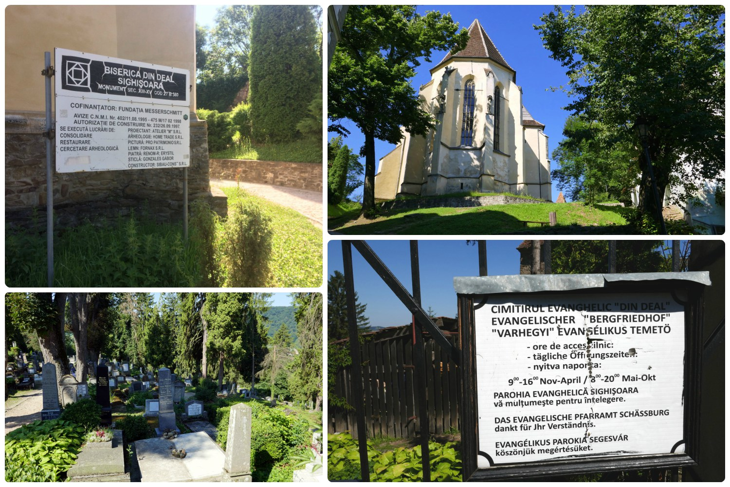At the top of the hill in the Sighisoara Citadel, sits the Church on the Hill. We climbed the Scholars' Stairs to get to the church and enjoyed the views from the top. When visiting, don't forget to walk through the old cemetery directly across from the church entrance.
