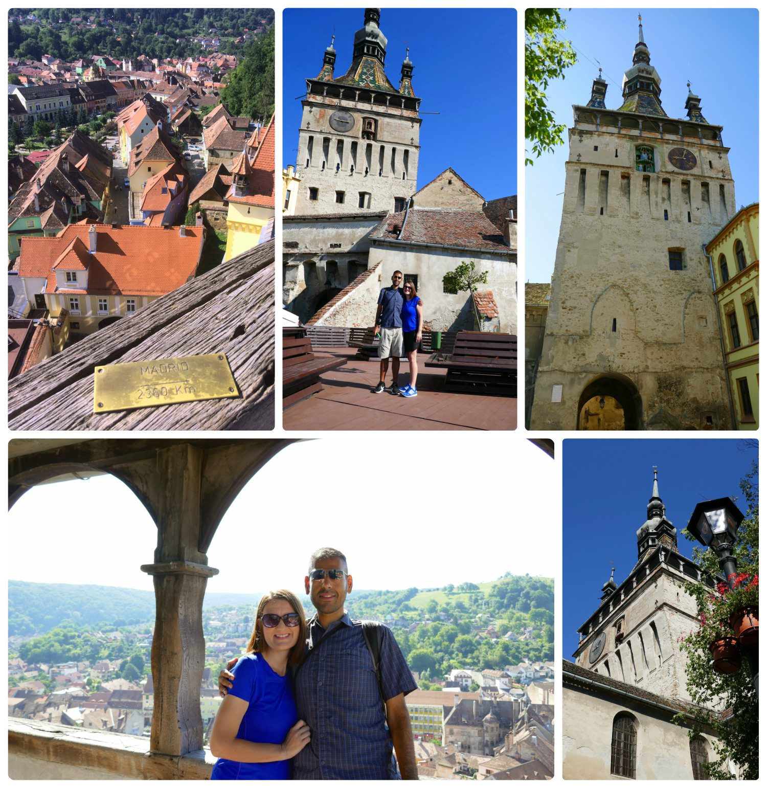 "If you're wondering if the views of Sighisoara and the surrounding area are worth a climb to the top of the Clock Tower in the center of the Citadel, we'd have to emphatically say ""Yes!"". We were able to walk completely around the Clock Tower (360 degrees), and appreciated that there was a clear, unobstructed view of the surrounding area that seemed to go on for miles. As a bonus, there were many small placards on the railing that gave the distance and direction to large international cities."