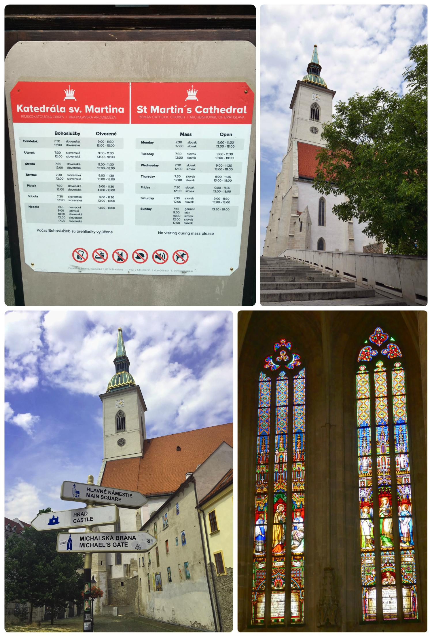 St. Martins Cathedral is the centerpiece of Bratislava Old Town and shouldn't be missed!