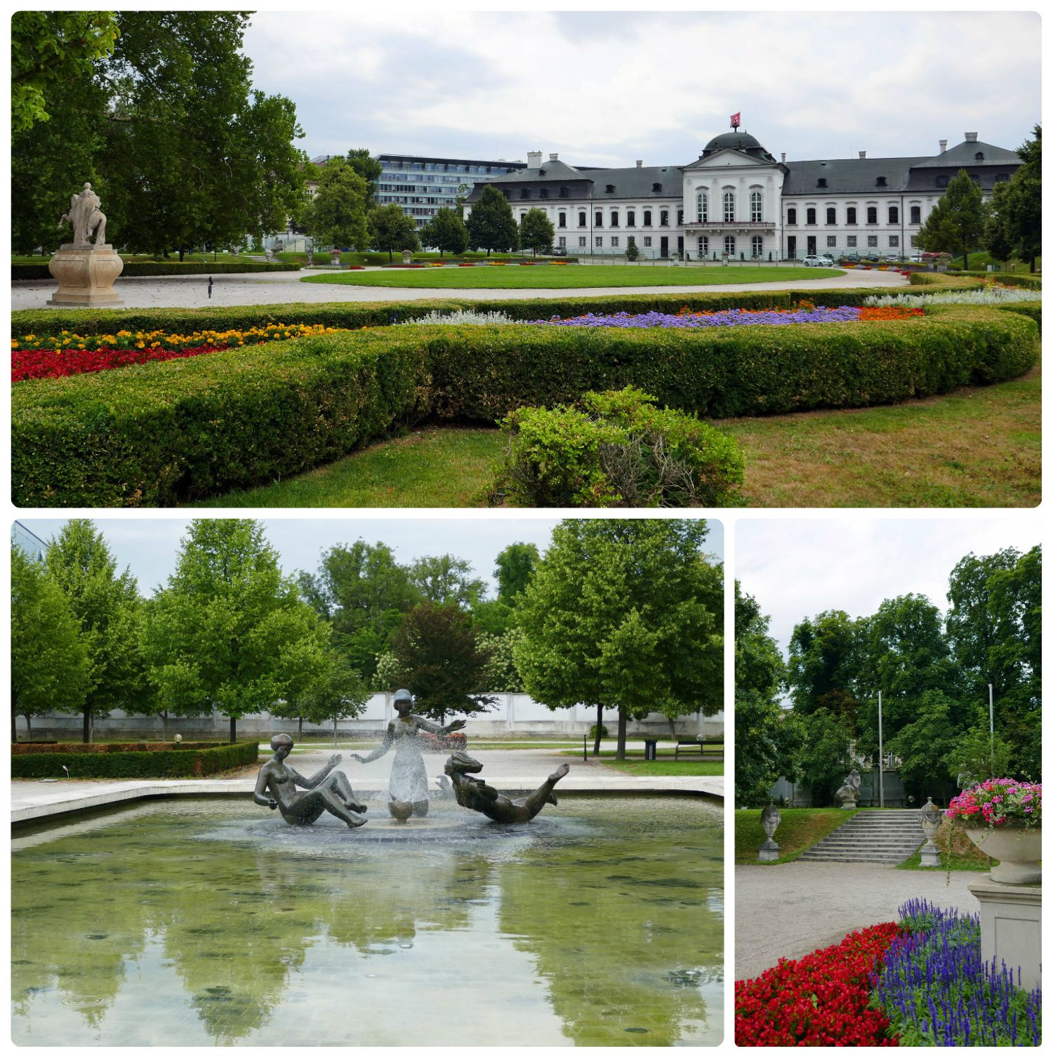The gardens behind the Presidential Palace are full of gorgeous flowers, sculptures, artwork.