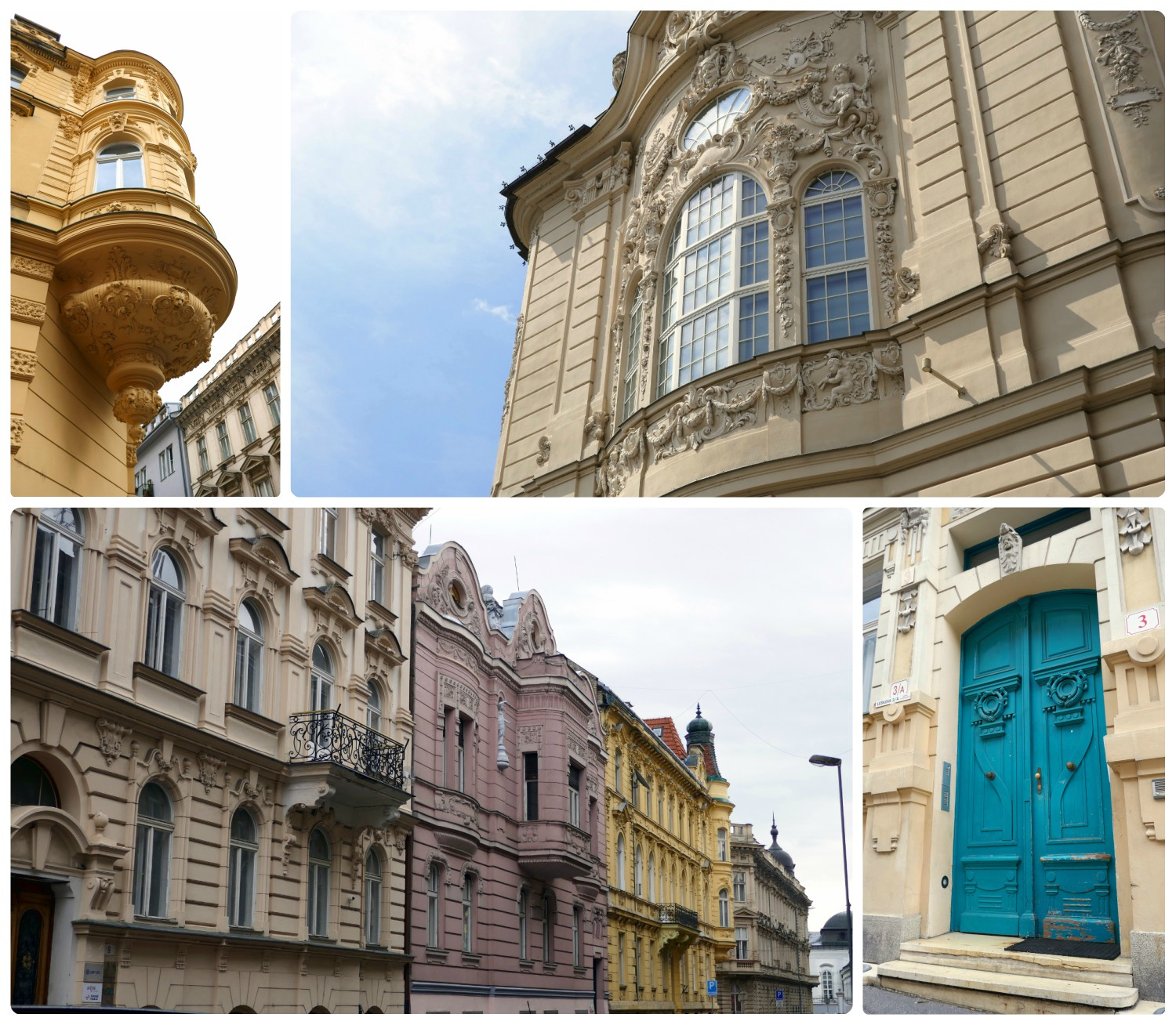 It wont take much exploring of downtown Bratislava to notice the intricate and ornate building fronts. As we made our way around town, we were sure to look up and around us, as we didn't want to miss anything!