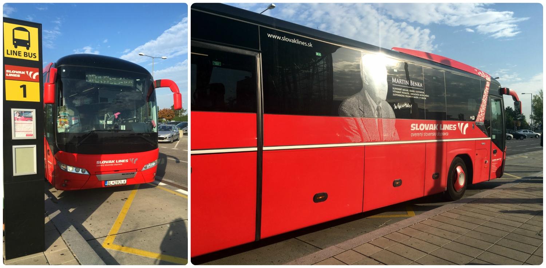 The bus we took from Bratislava to Austria.
