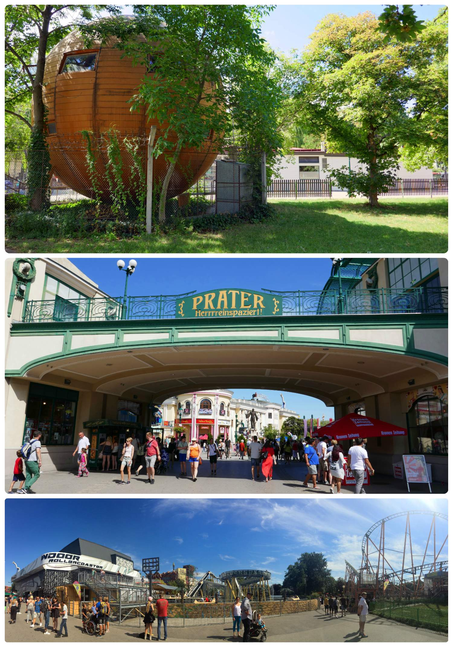 When visiting don't miss the Republic of Kugelmugel. Located next to the amusement park, it may not draw much attention from its appearance, however the story is quite interesting.