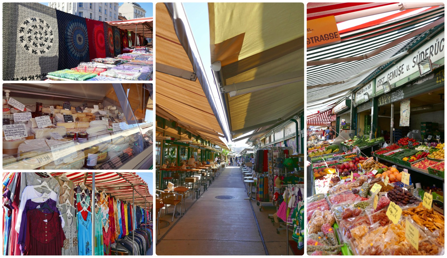 There's a huge variety of shops at Naschmarkt! Come to shop, eat, or people watch!