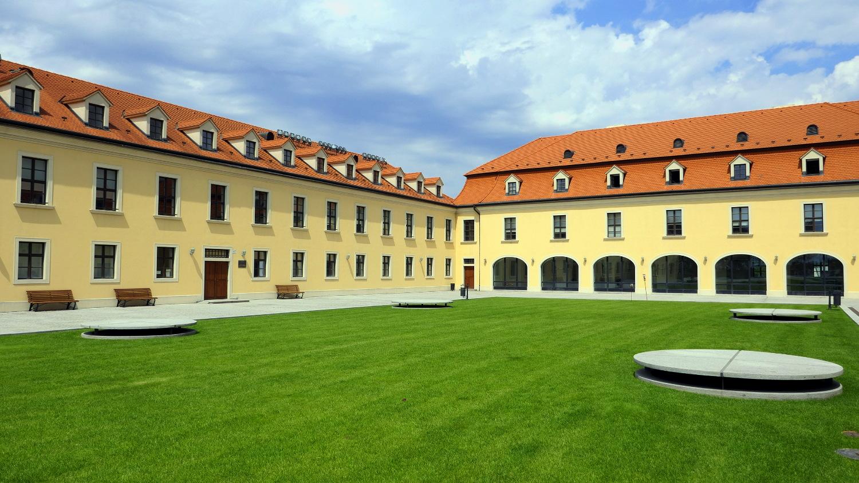 Courtyard, Bratislava Castle, Bratislava, Slovakia