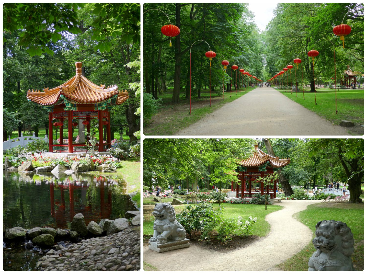 The Chinese Garden in Lazienki Park was enchanting!