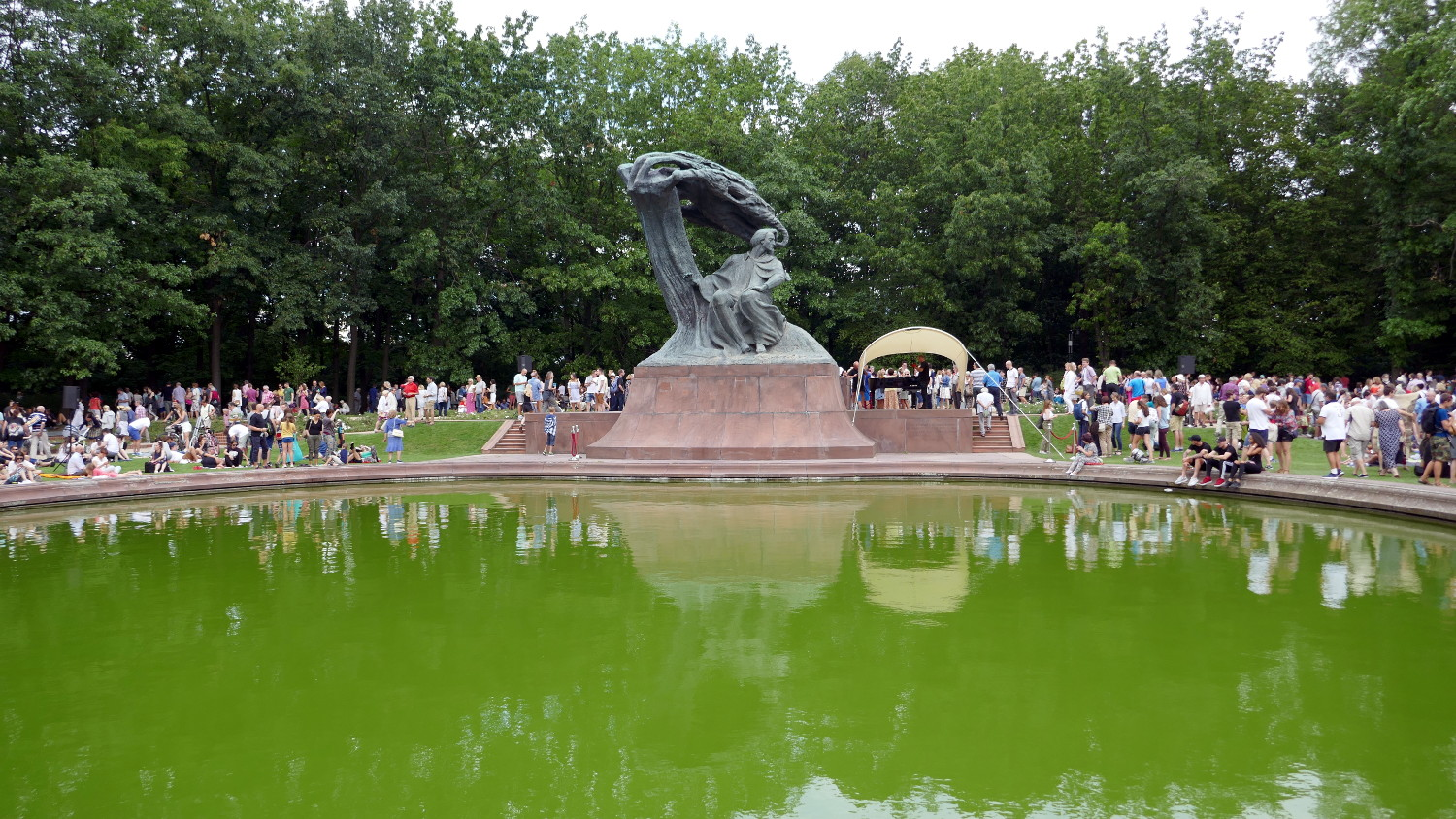 The Chopin Monument in Lazienki Park is a must for any Chopin fan! Show up for the weekly Sunday summer concert and enjoy the monument with thousands of fans!