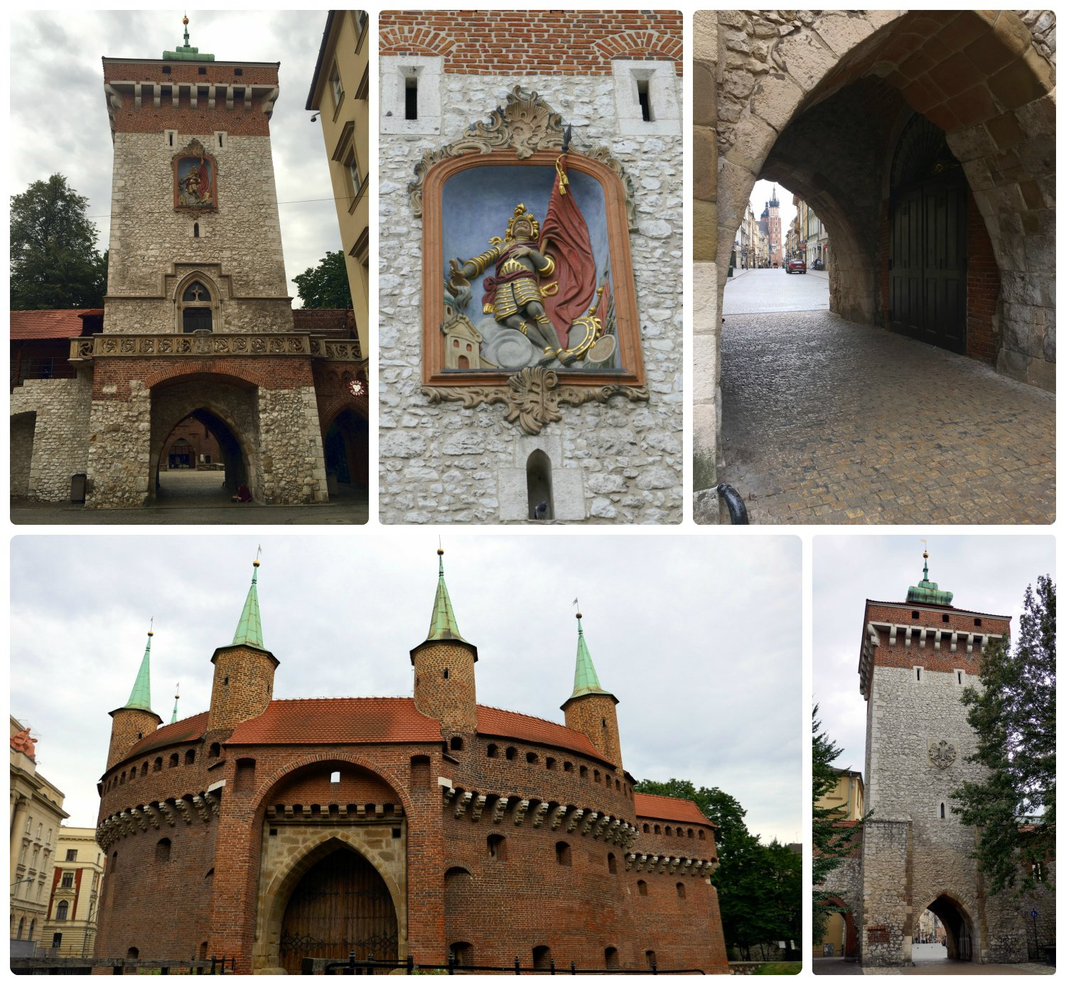 When visiting Krakow, Poland, be sure to take a close look at the Barbican and St. Florian's Gate, the detail is the finishing touch you don't want to miss!