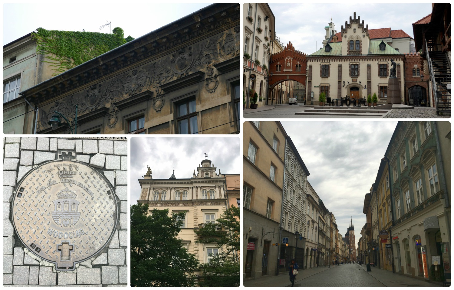 When we were walking around Krakow, Poland, we were sure to look in all directions because the buildings were so beautiful!