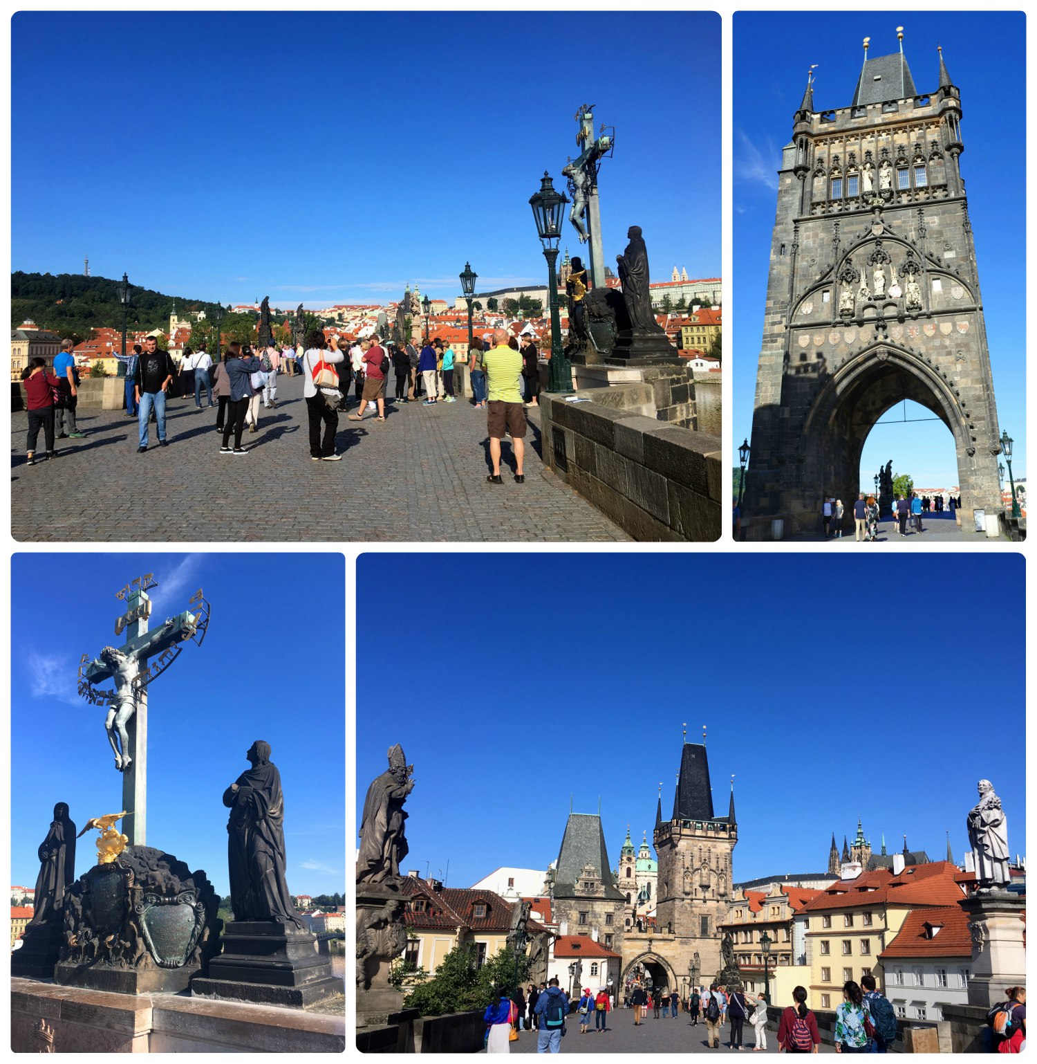 The detail and sculptures of the bridge are beautiful, so it's no surprise that St. Charles Bridge is an extremely popular tourist spot in Prague.