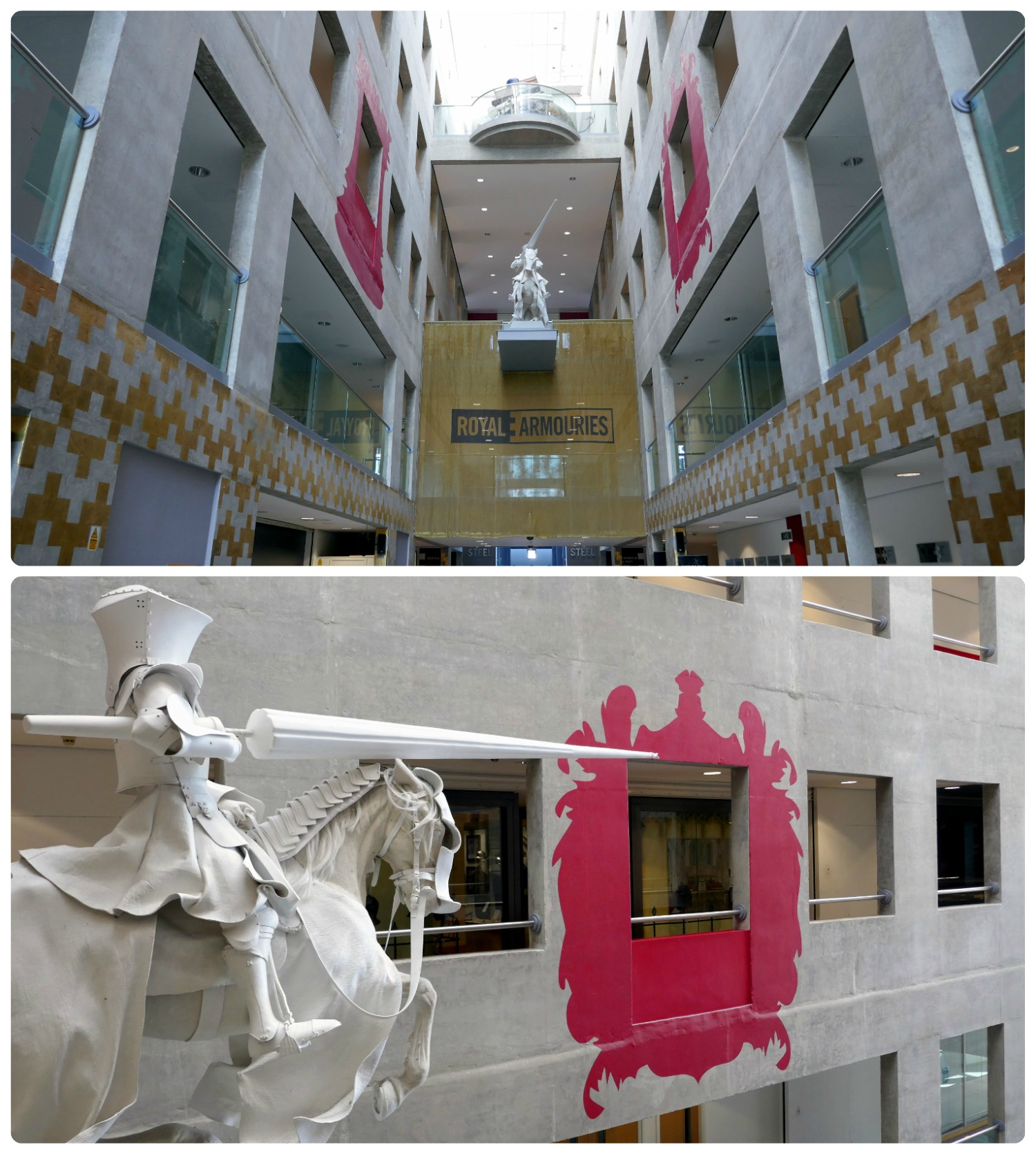 The entrance to the Royal Armouries Museum is impressive and sets the tone for the rest of the museum!