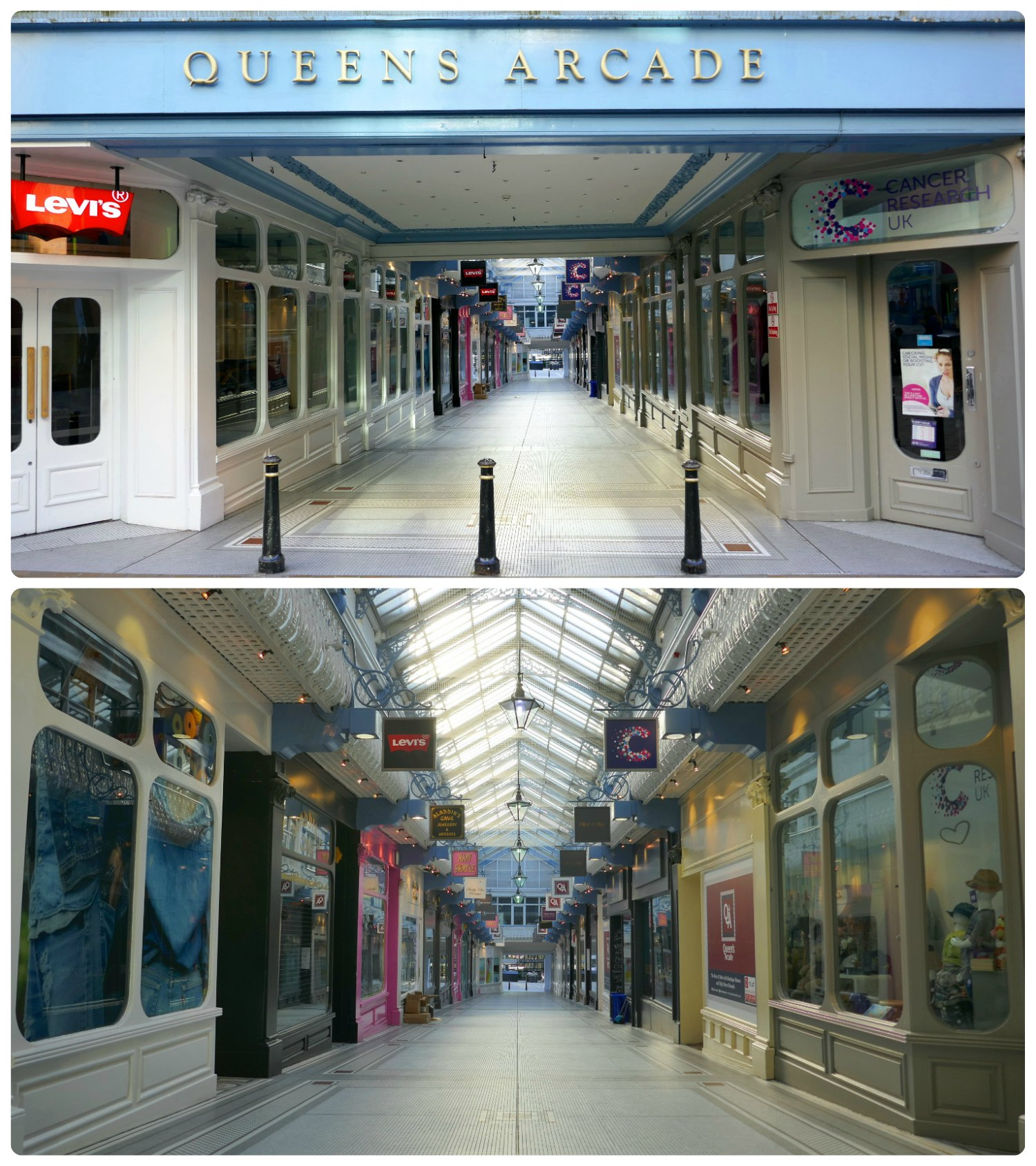 Queen's Arcade was the first arcade we visited on our sightseeing adventure.