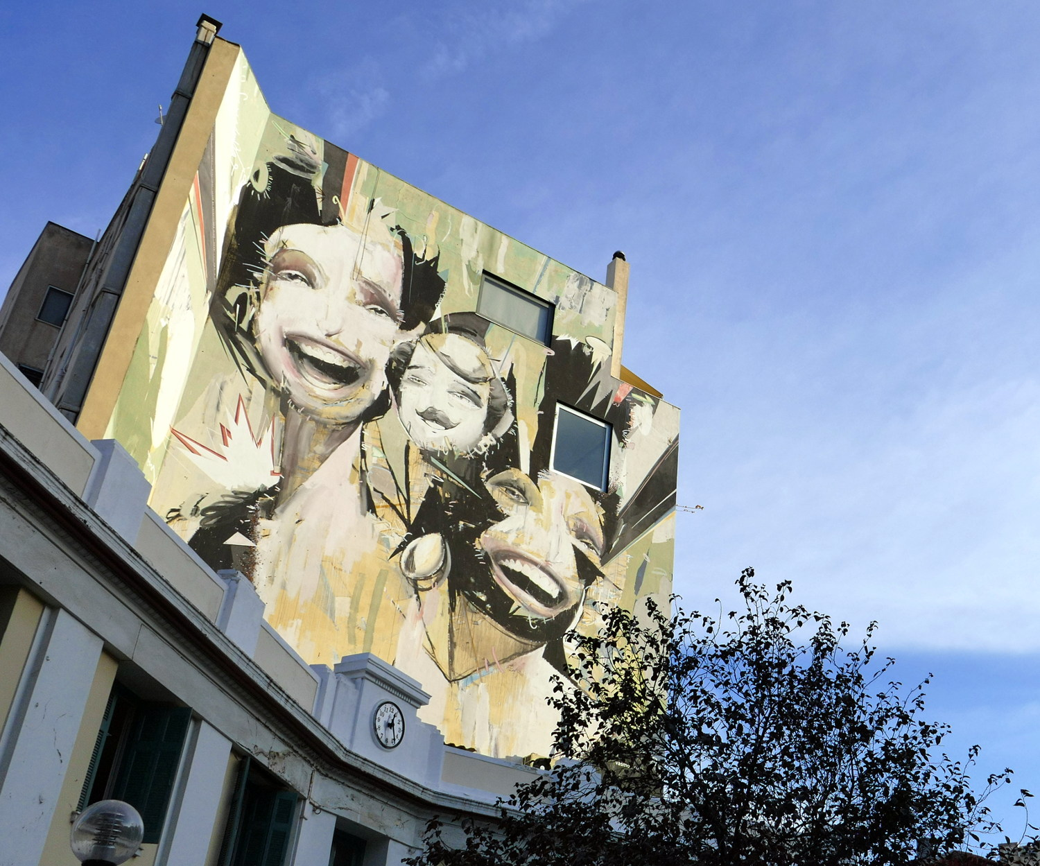 Artist :  Alexandros Vasmoulakis   Location : Can be seen from the square at the center of Platia Iroon, Athens, Greece