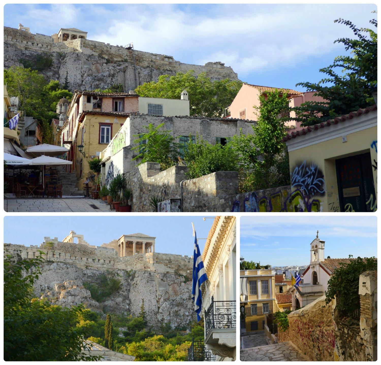 To get a taste of neighborhoods on the Greek Islands, don't miss a walk around Anafiotika neighborhood in Athens, Greece!