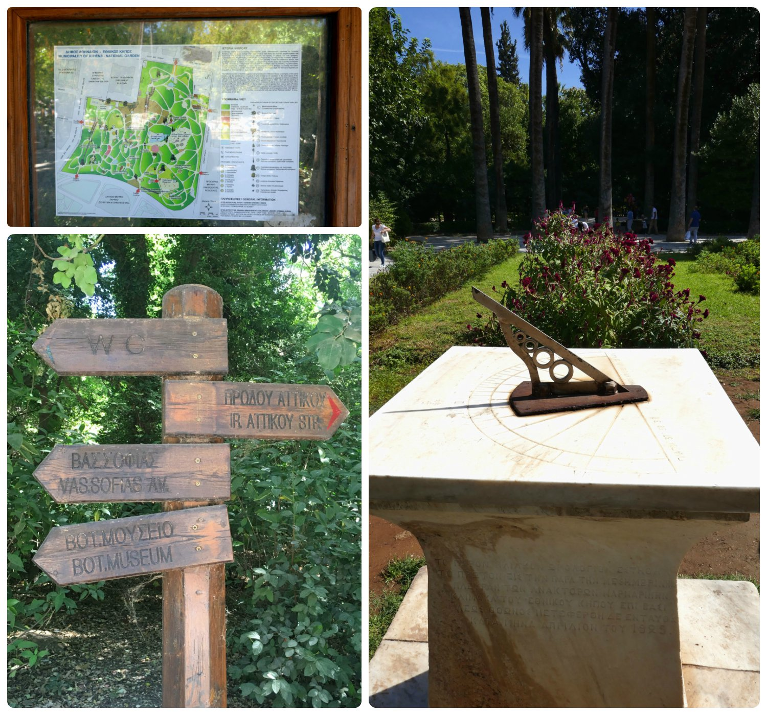 National Garden is a bit of a maze to explore, however there are maps and signs posted throughout the garden.
