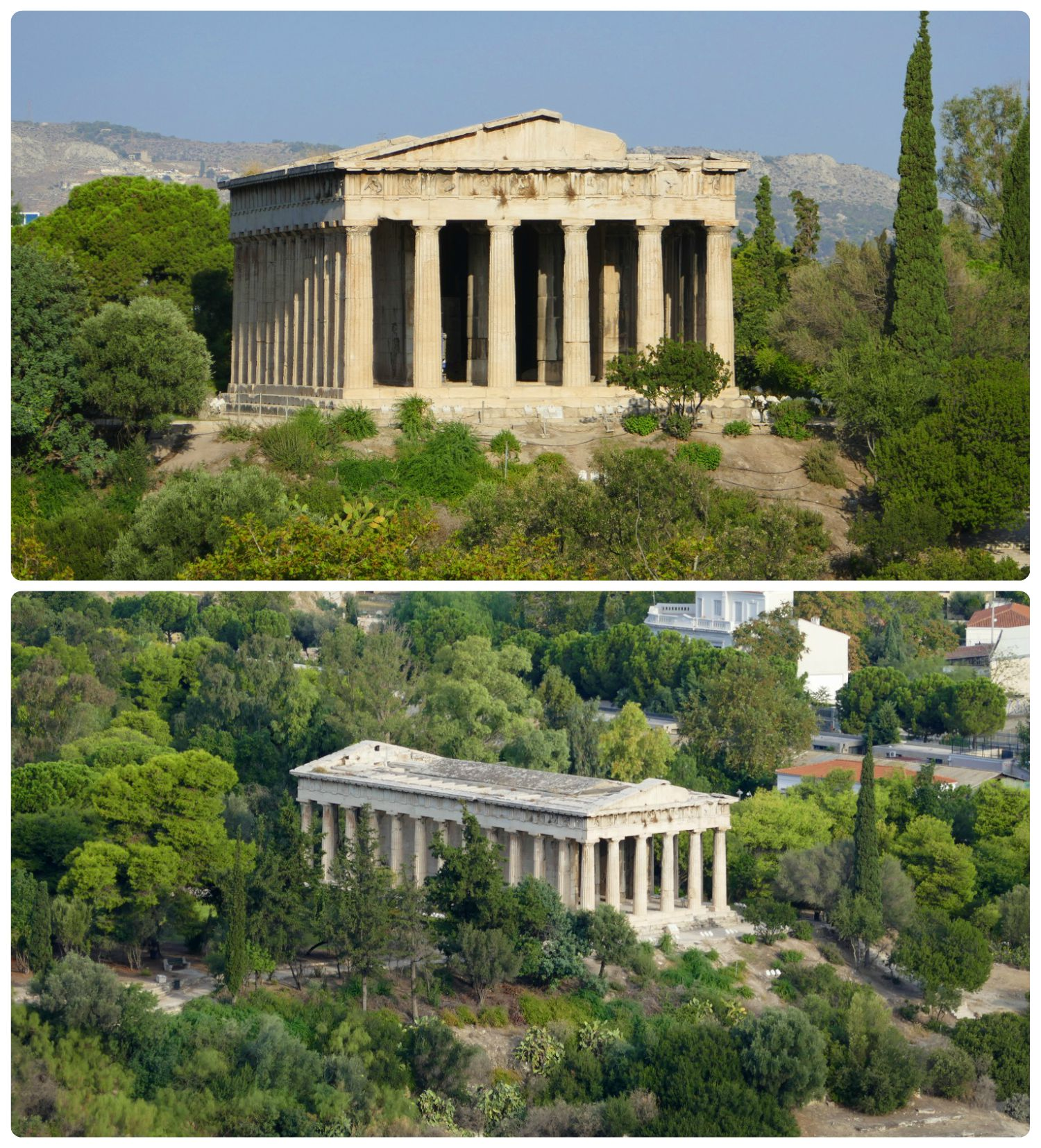 Hephaestus Temple is located within the Ancient Agora of Athens.