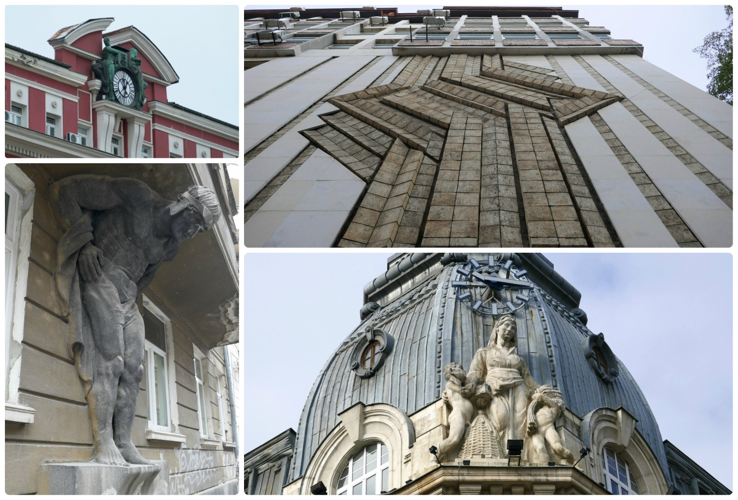The details on some of the buildings in Sofia, Bulgaria are beautiful and a highlight of the city!