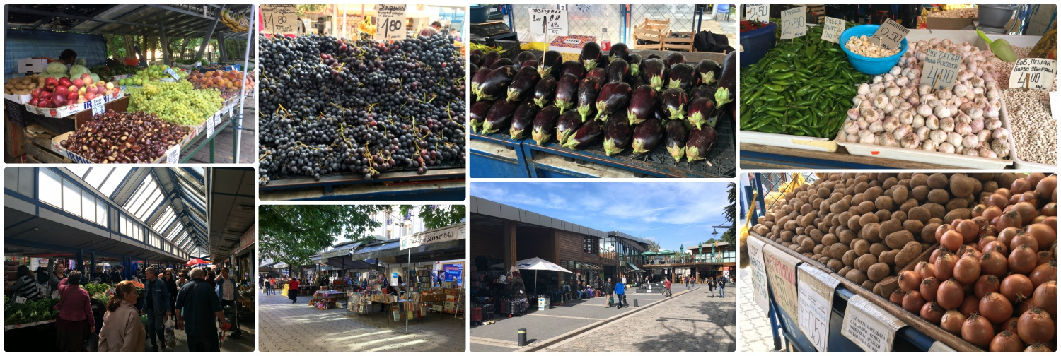 Produce markets are a great place to find inexpensive and fresh food in Sofia, Bulgaria. Not to mention, they're a great place to meet locals and practice your Bulgarian!