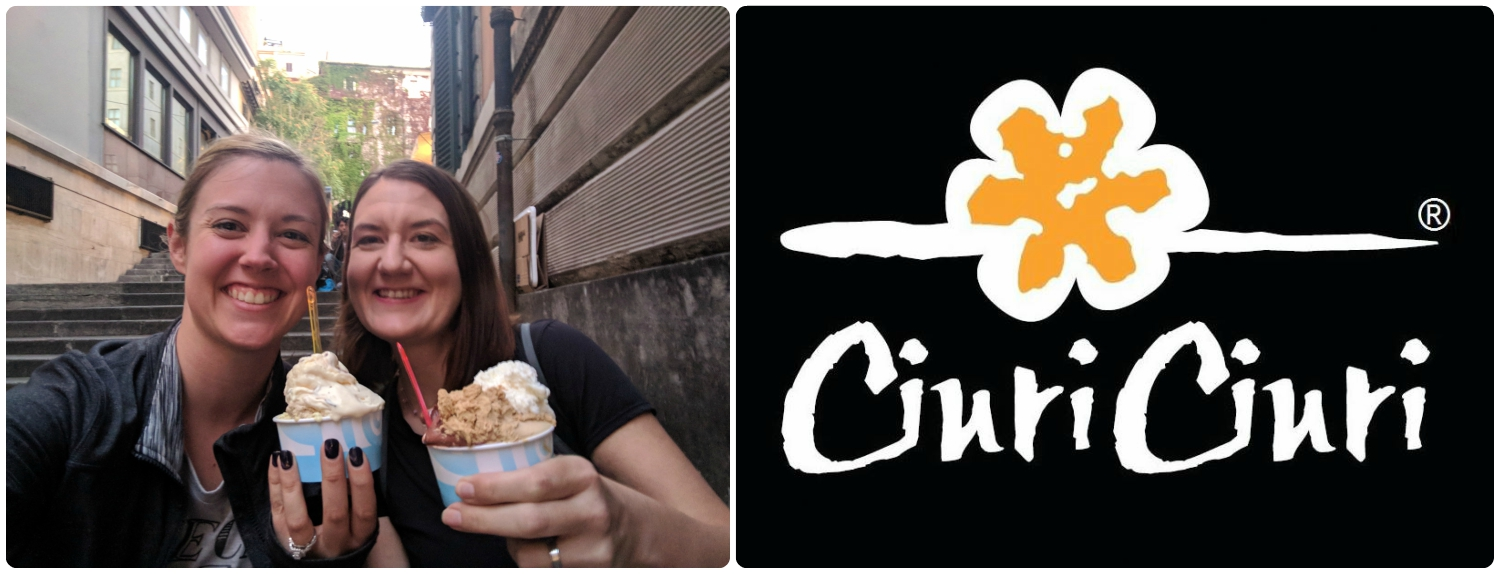 What's better than gelato in Rome? Gelato with friends! We enjoyed our delicious treat at Curi Curi in city center Rome, Italy.