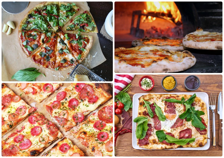 Traditional Roman Pizza Rome Italy Napoleon Pizza thin crust crispy char pizza al taglio margherita pizza