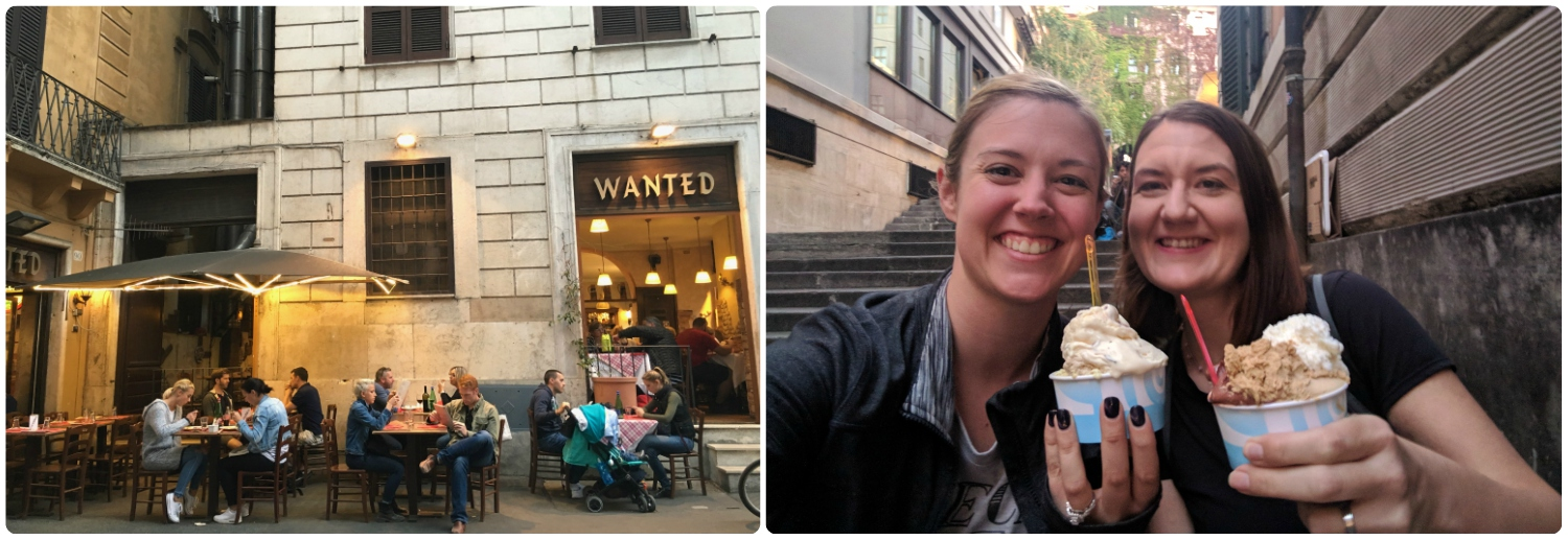 Dinner and Gelato with Friends in Rome, Italy! What more could we ask for!?