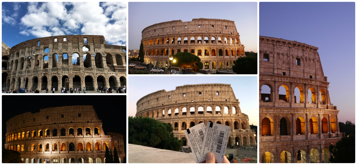 In every light (day, night, sunset, and dusk) the Roman Colosseum is fantastic! Be sure to get entrance tickets to see the inside!
