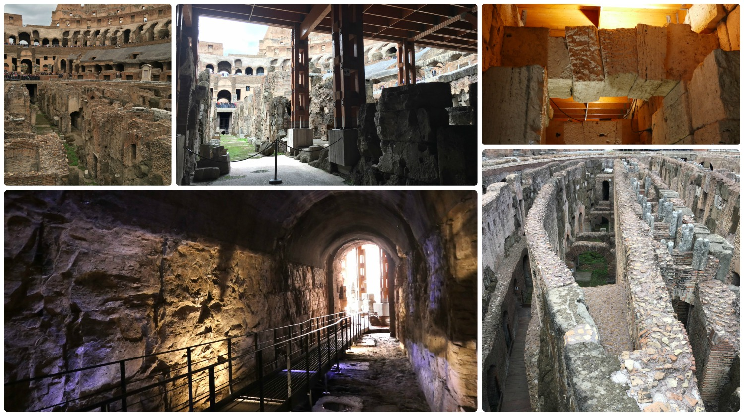 The underground area of the Roman Colosseum is only accessible by guided tour.