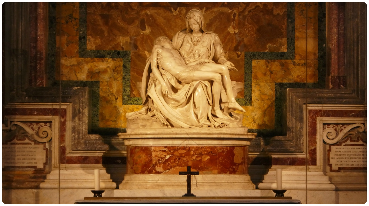 Michelangelo's Sculpture Pietà (The Pity) in the Vatican's St. Peter's Basilica. Vatican City State.