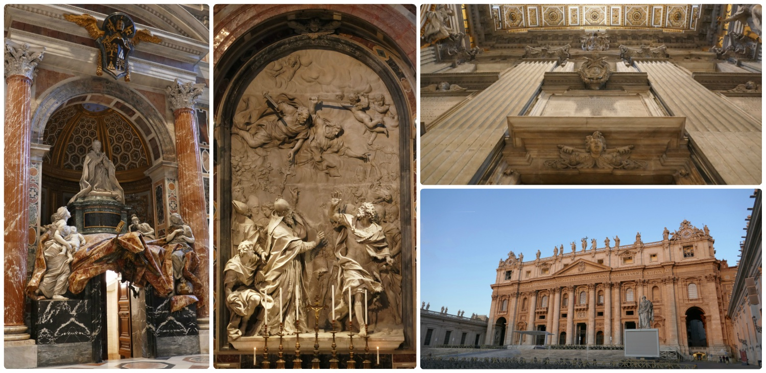 St. Peter's Basilica in Vatican City State. The sculptures within the basilica are amazing, particuarly the marble work and realness of the sculpted cloth.