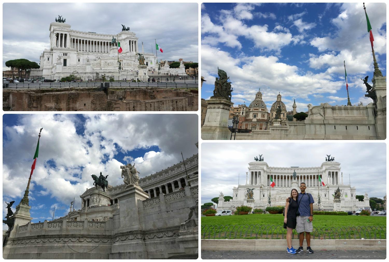 Altar of the Fatherland (Altare della Patria or Monumento Nazionale a Vittorio Emanuele II)in Rome,Italy.