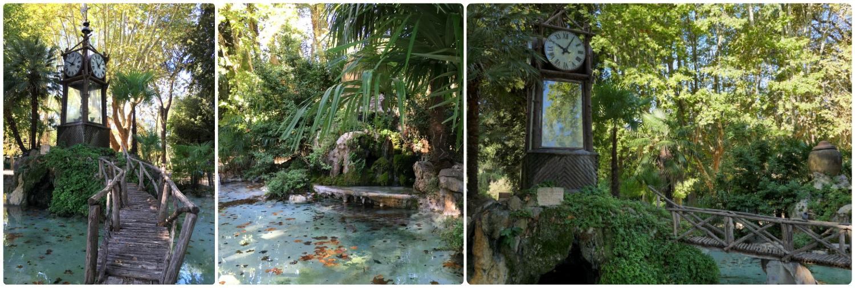The Water Clock at Pincio in Villa Borghese Gardens in Rome, Italy.