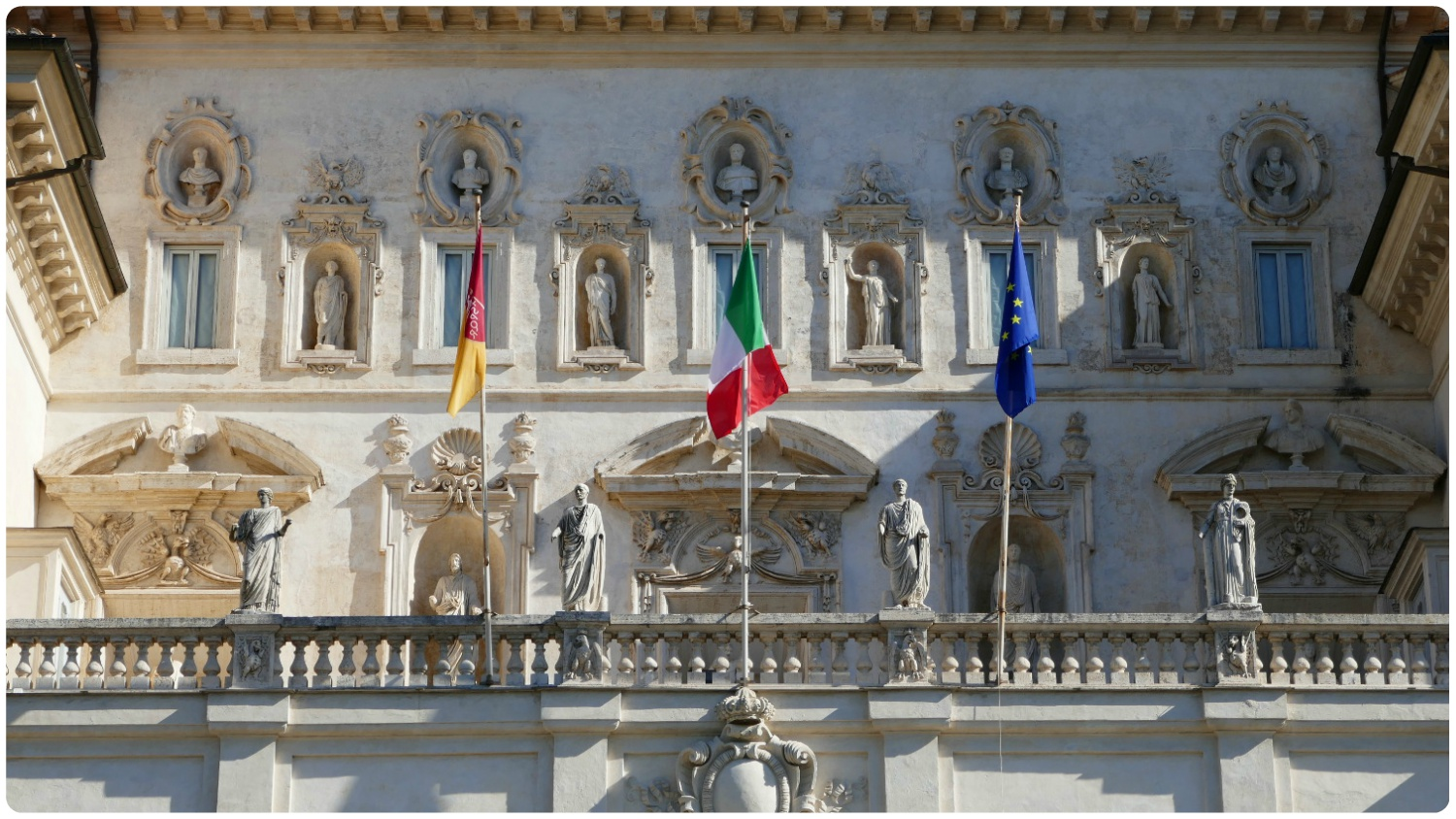 Borghese Gallery and Museum in Villa Borghese Gardens in Rome, Italy.