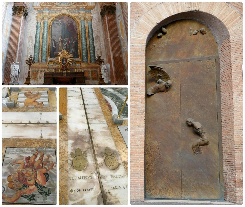 St. Mary of the Angels and the Martyrs (Santa Maria degli Angeli e dei Martiri) in Rome, Italy.