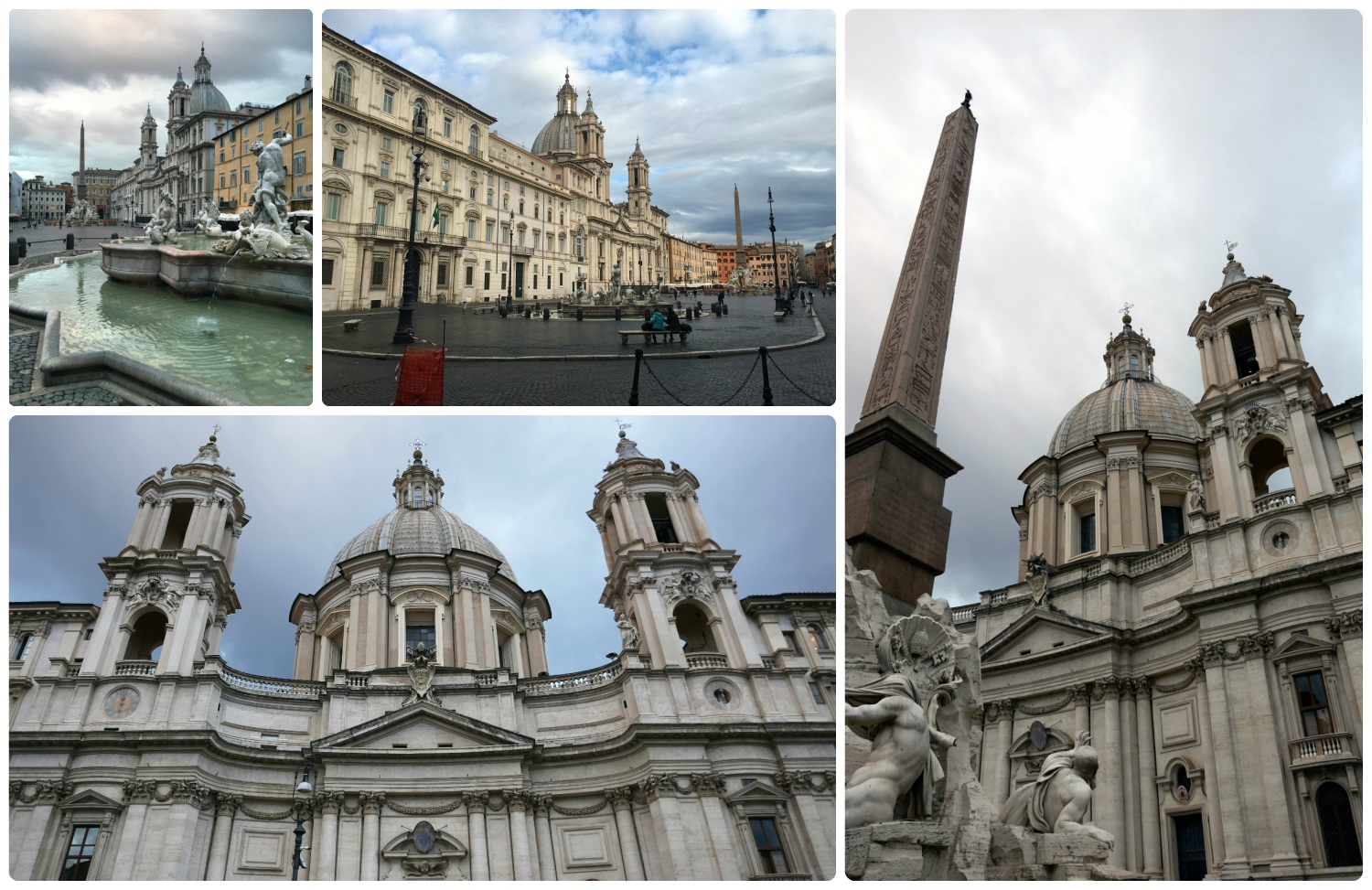 Piazza Navona and Saint Agnese in Rome, Italy.