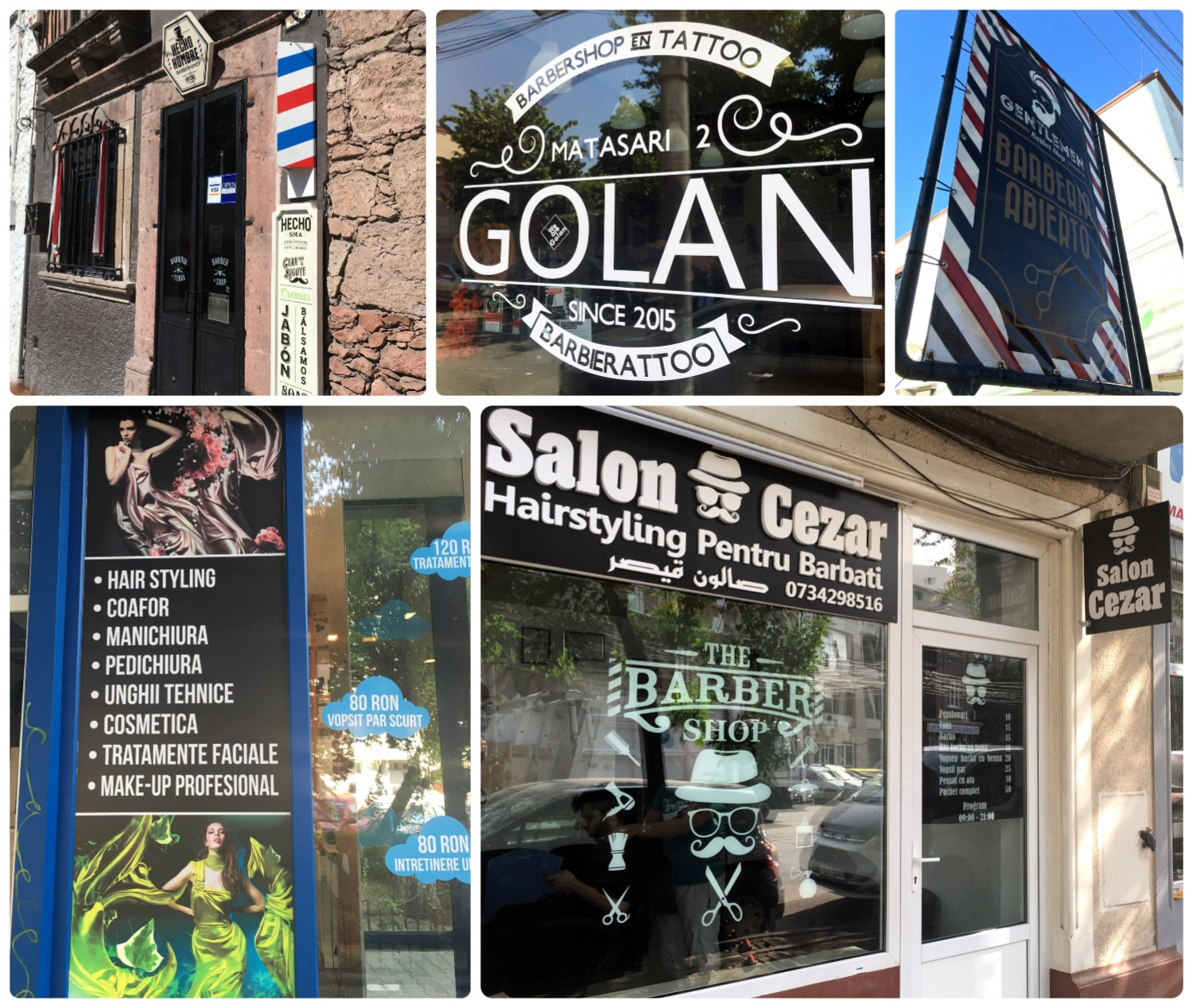 Barbershops and Hair Salons. Golan Bucharest. Salon Cezar Bucharest. Hecho Hombre San Miguel de Allende. Barberia Queretaro.