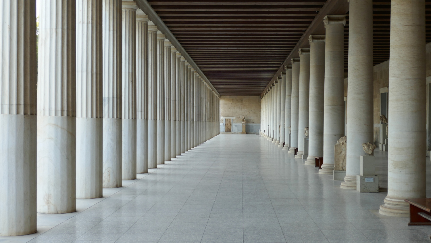 Agora, Stoa of Attalos Interior, Athens, Greece