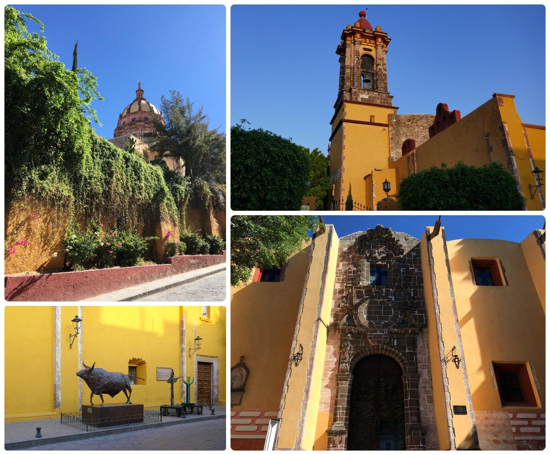 Centro Cultural Ignacio Ramírez El Nigromante (aka Bellas Artes) in San Miguel de Allende, Mexico is just one of the many beautiful and brightly colored buildings you can find throughout the city!