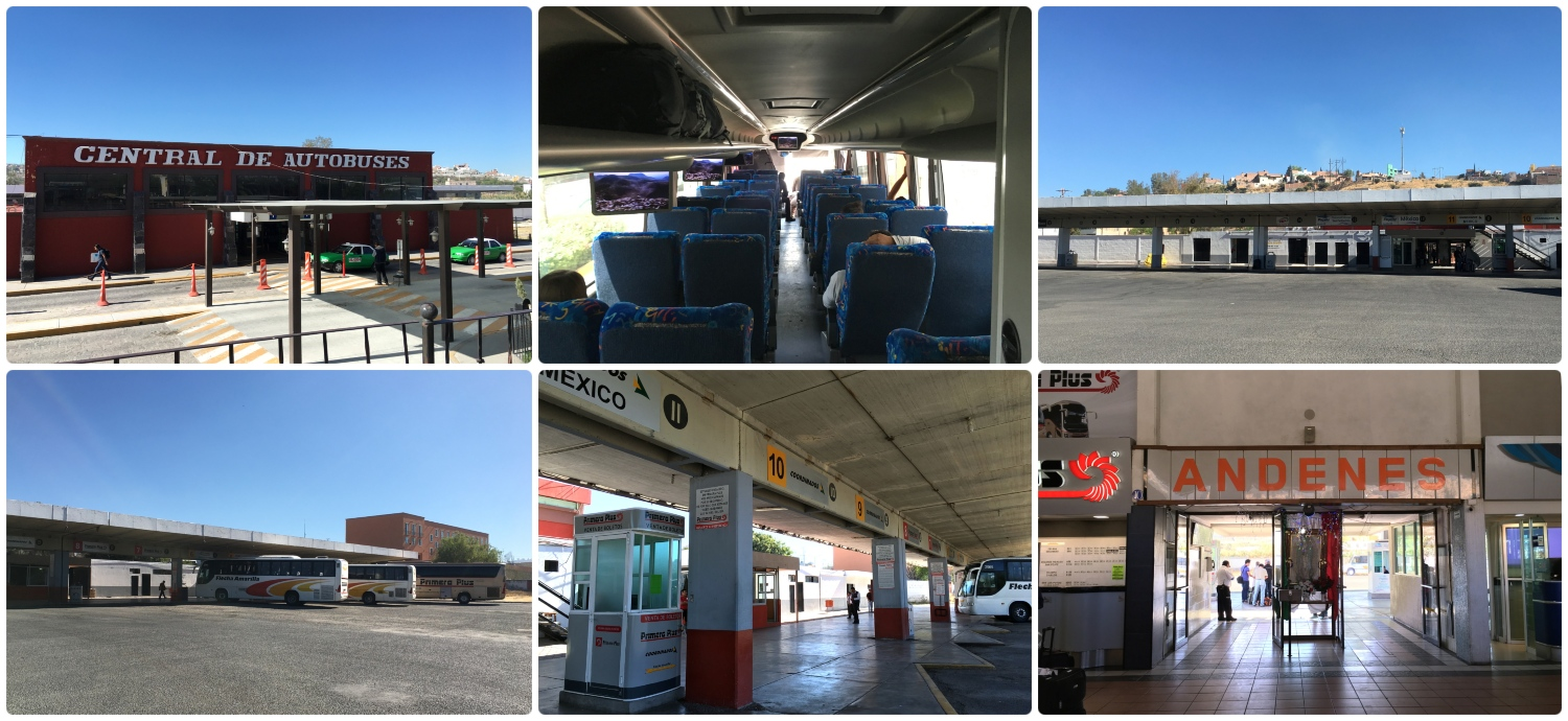 The San Miguel de Allende, Mexico bus terminal is located within a moderate walking distance from city center ('centro').