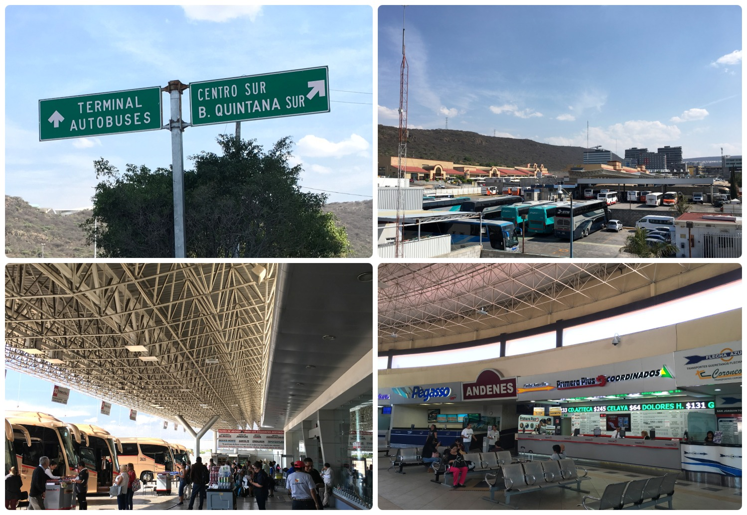 The Santiago de Queretaro, Meixco bus terminal is near the stadium (Estadio Corregidora) and is a busy transportation hub.