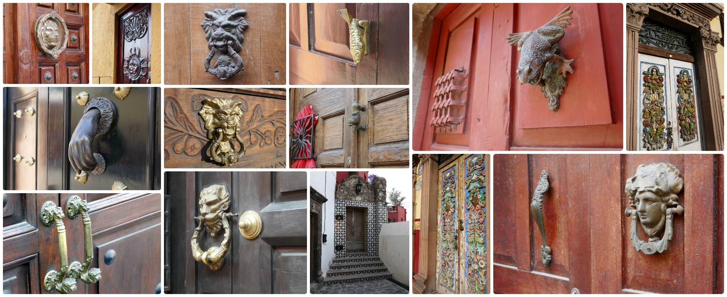The doors and doorknockers in San Miguel de Allende, Mexico are intricate, creative, and unique!