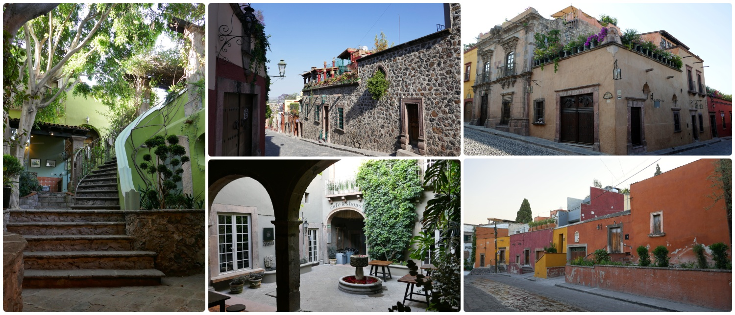In Mexican tradition the homes of San Miguel de Allende are built with wonderful center courtyards and rooftop terraces!