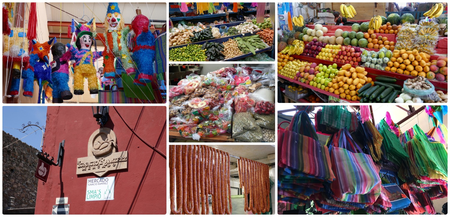 The markets ( mercados) in San Miguel de Allende, Mexico are full of vendors selling everything you could want. Think candy, produce, meat, flowers, prepared food, etc...