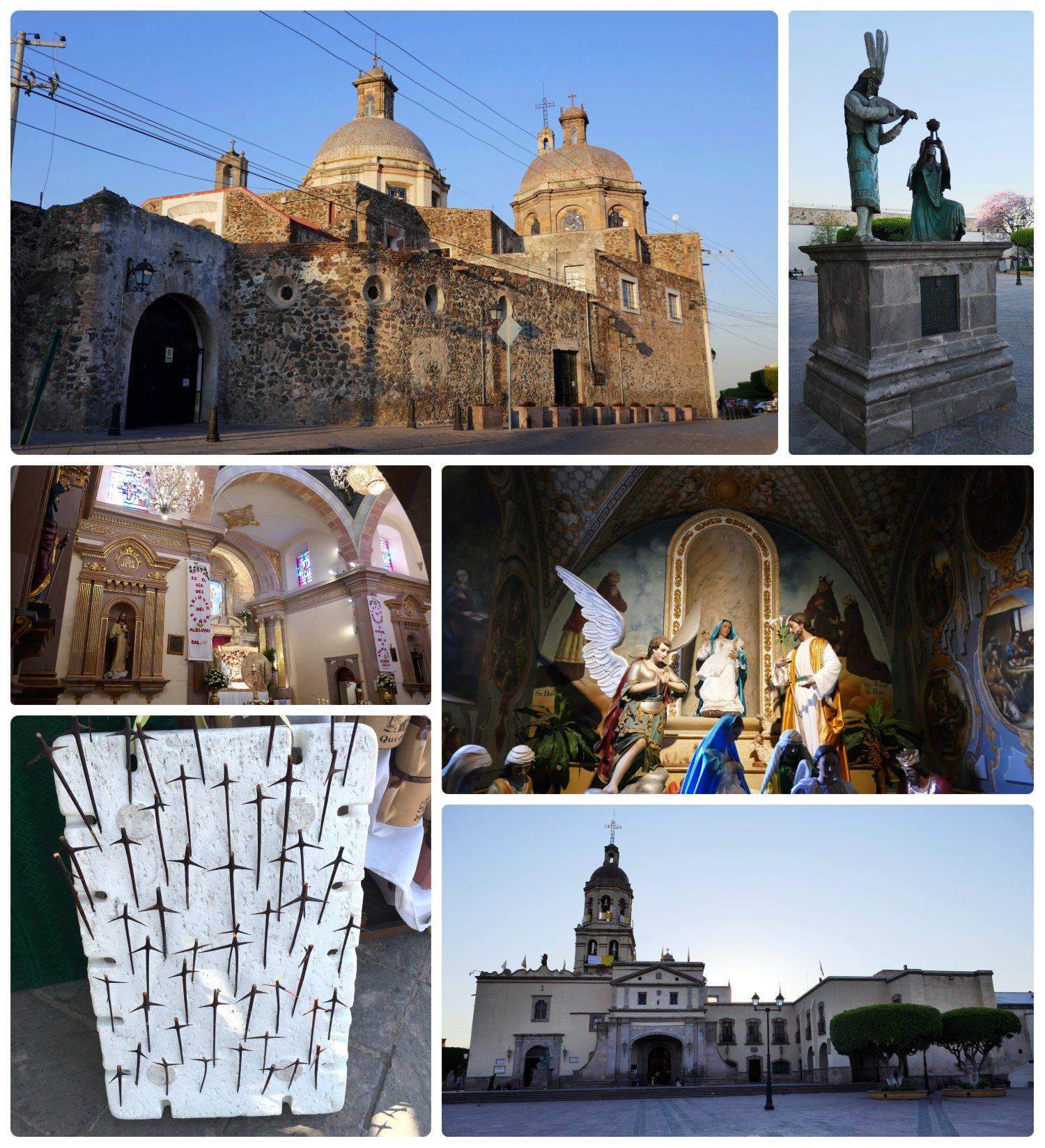 Templo y Convento de la Santa Cruz (Temple and Convent of the Holy Cross) in Santiago de Queretaro, Mexico