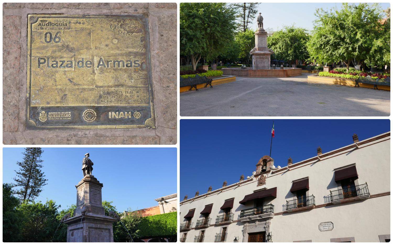 Plaza de Armas in Santiago de Queretaro, Mexico.