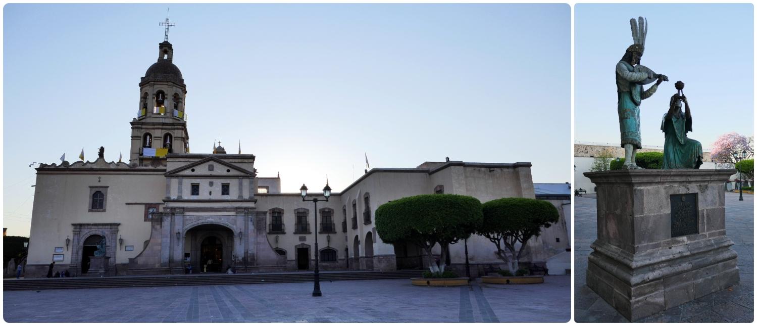 Plaza de los Fundadores (Founders' Square) in Santiago de Queretaro, Mexico.