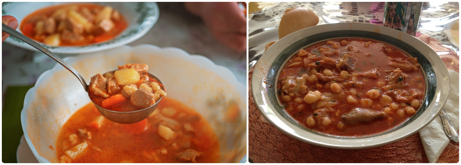 Menudo is a traditional Mexican soup.  (Right  image credit )