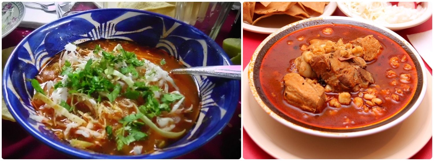 Pozole is a traditional Mexican stew.  (Left  image credit )